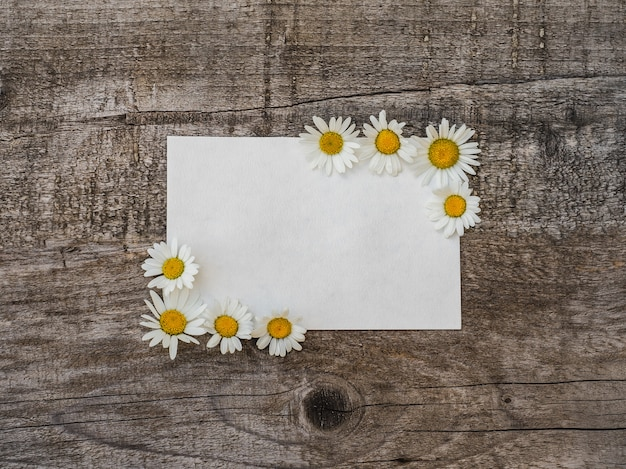 Bellissimo bouquet di fiori luminosi e blocco note