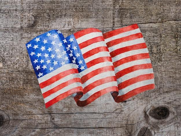 Bellissimo disegno della bandiera americana