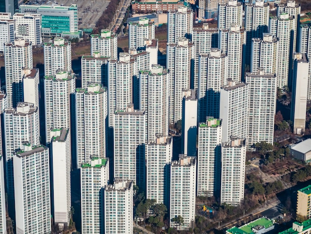Bellissimo edificio di architettura nella città di seoul