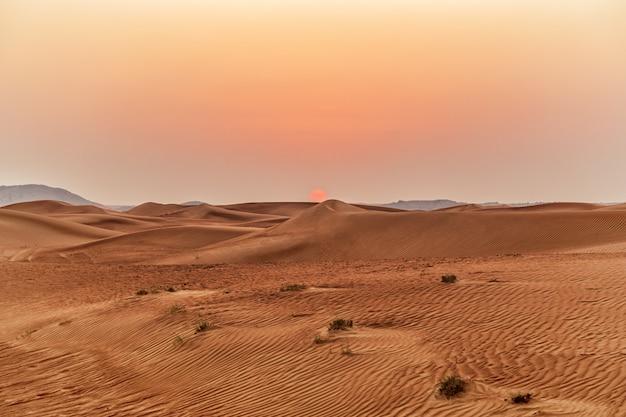 Bellissimo paesaggio di dune di sabbia