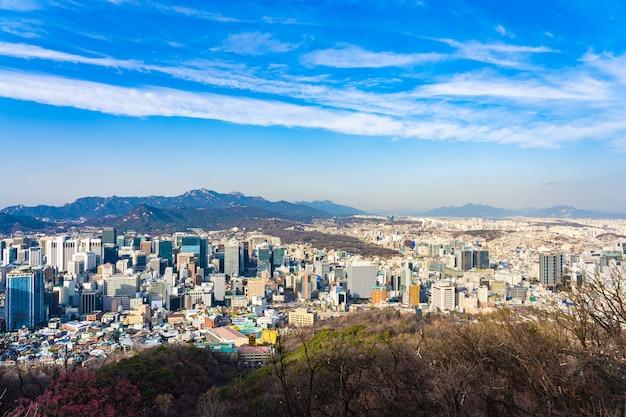 Bellissimo paesaggio e paesaggio urbano della città di seoul