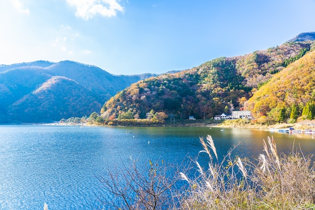 Bellissimo paesaggio intorno lago kawaguchiko