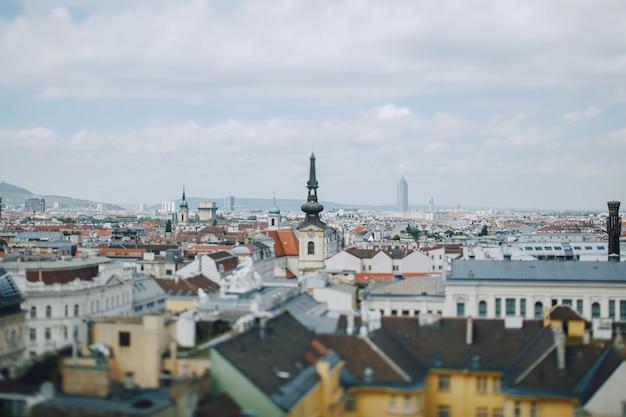 Bellissimo paesaggio urbano dal punto di vista