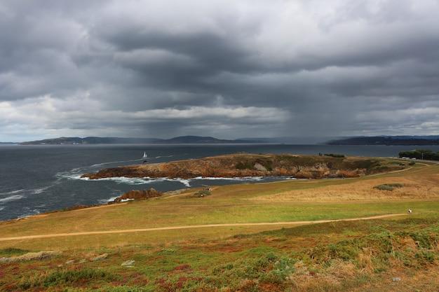 Bellissimo panorama a la coruña, galizia, spagna