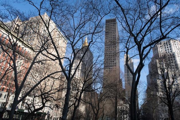 Bellissimo panorama di new york city durante il giorno