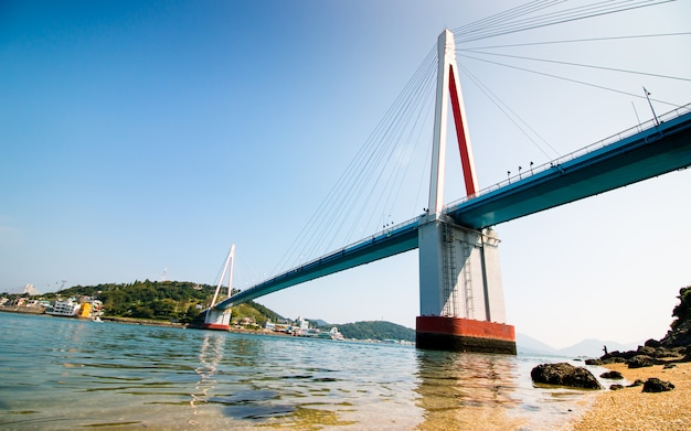 Bellissimo ponte a yeosu, corea del sud,