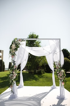 Bellissimo set up wedding in uscita.