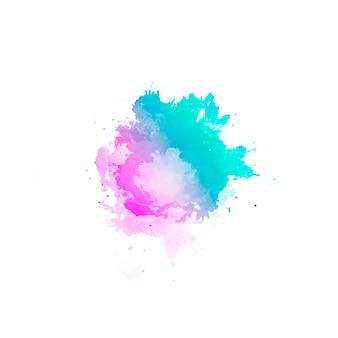 Bellissimo sfondo astratto di macchie di colore dell'acqua disegnate a mano