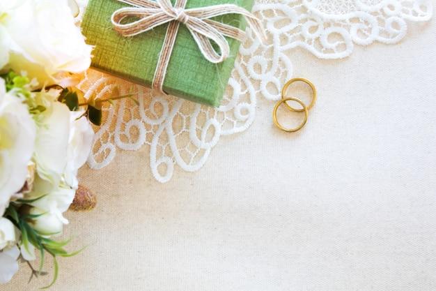 Bellissimo sfondo piatto laici del concetto di matrimonio o di san valentino