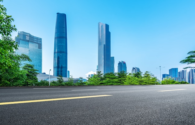 Bellissimo skyline della città di guangzhou