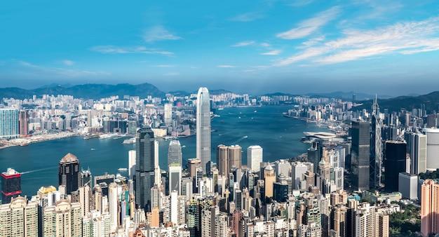Bellissimo skyline della città di hong kong, cina