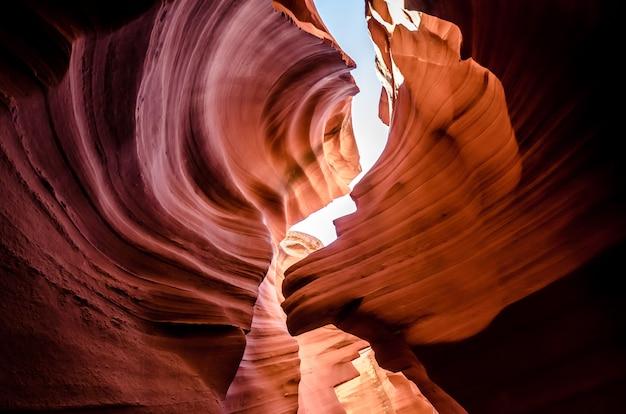 Bello canyon dell'antilope, terra navajo ad est di page, usa