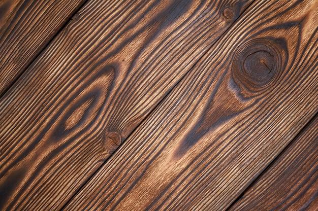 Bello modello e struttura marroni delle plance di legno per fondo