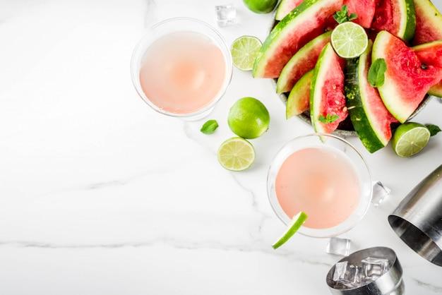Bevanda alcolica estiva, cocktail martini di anguria