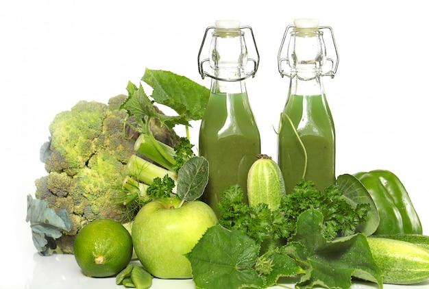 Bevanda verde frullato.