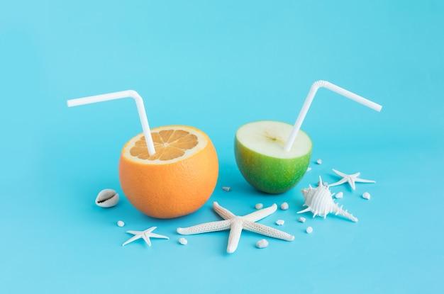 Bevande estive rinfrescanti e set di conchiglie