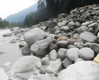 Bianche pietre ciottoli