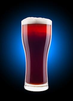Bicchiere di birra con schiuma
