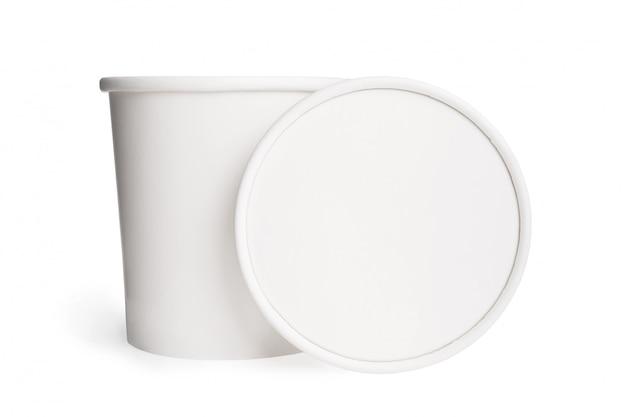 Bicchiere di carta bianco bianco