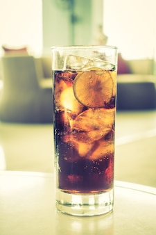 Bicchiere di coca cola