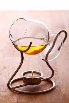 Bicchiere di cognac caldo