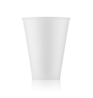 Bicchiere di plastica bianco