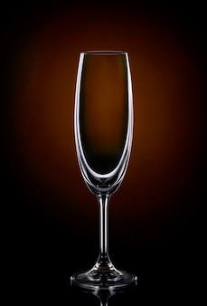 Bicchiere di vino vuoto