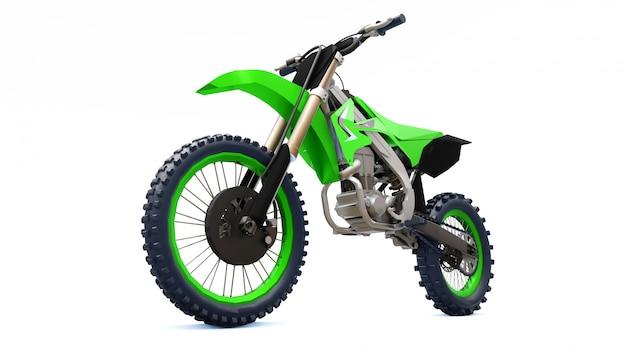 Bicicletta sportiva verde e nera per sci di fondo