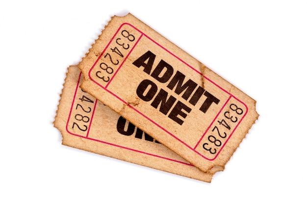 Biglietti d'ingresso macchiati e danneggiati