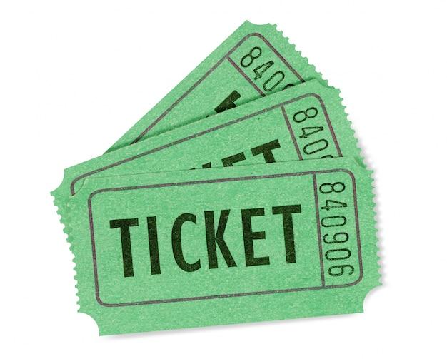 Biglietti della lotteria verdi
