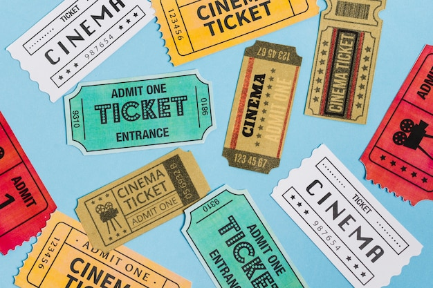 Biglietti per il cinema con vista dall'alto
