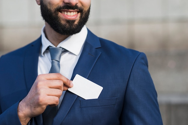 Biglietto da visita azienda uomo