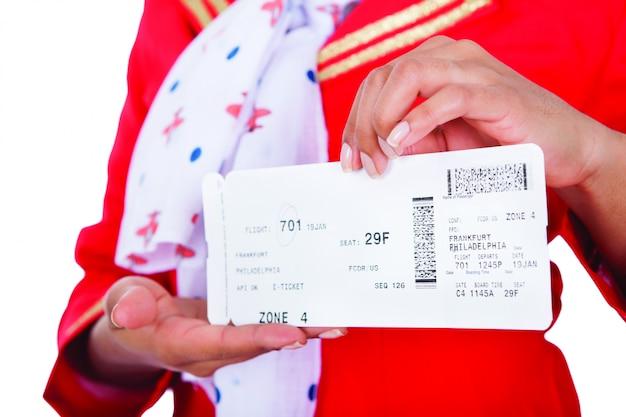 Biglietto per la visualizzazione della donna