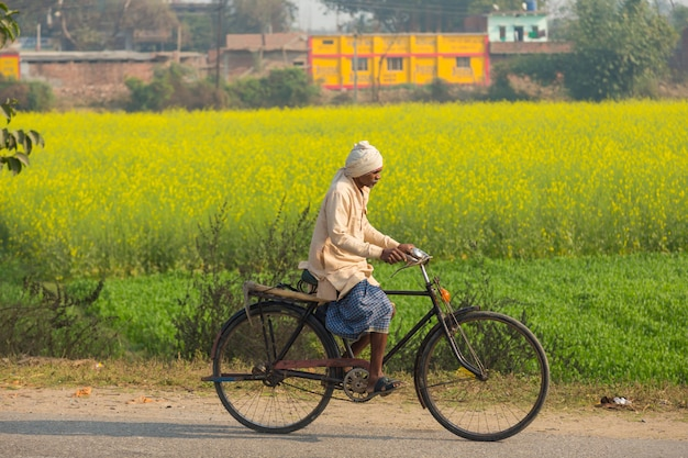 Bihar india - 14 febbraio 2016: gente non identificata e traffico dell'india