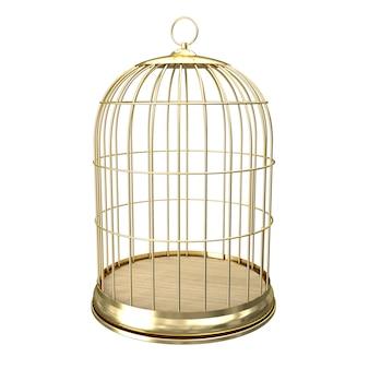 Birdcage dorato 3d