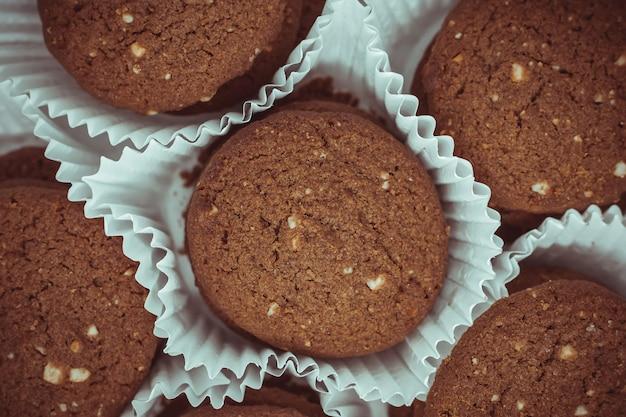 Biscotti al burro di anacardi al cioccolato tradizionali