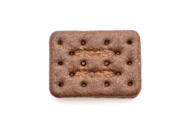 Biscotti al cioccolato con crema al cioccolato