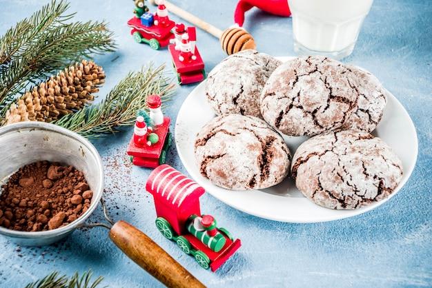 Biscotti al cioccolato di natale