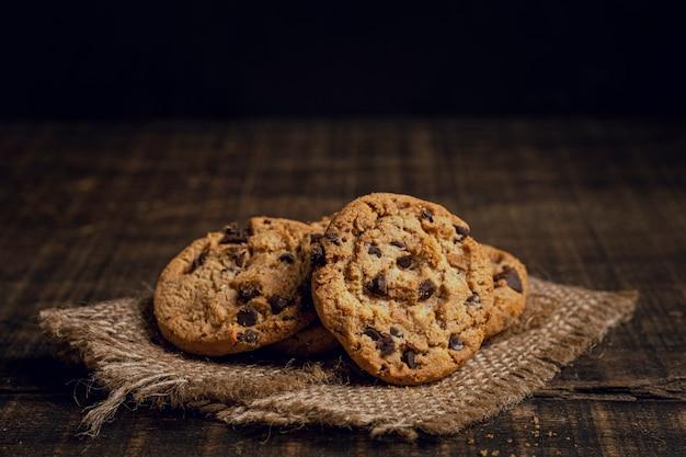 Biscotti americani su tessuto di tela