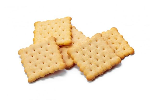 Biscotti cracker isolati