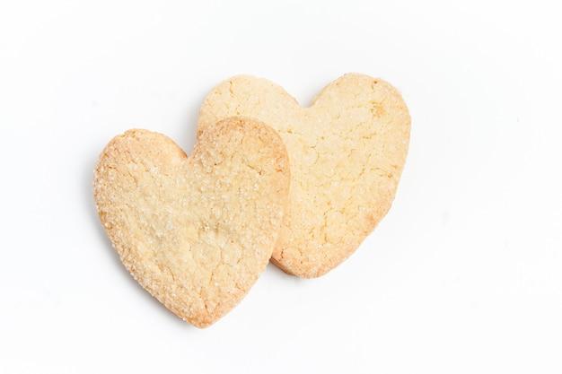 Biscotti cuore isolati
