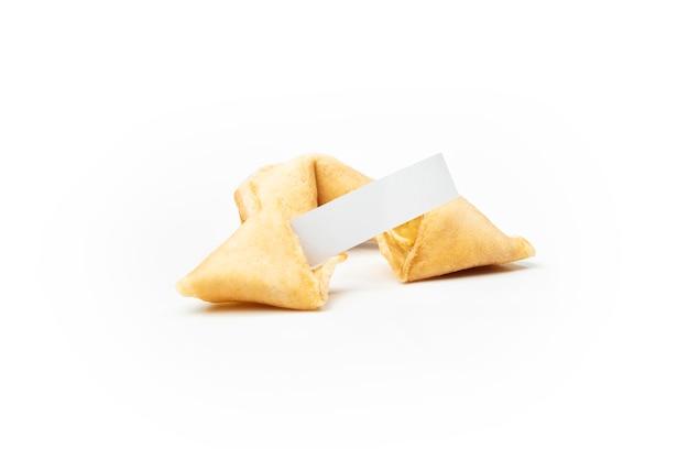 Biscotti della fortuna con carta bianca vuota