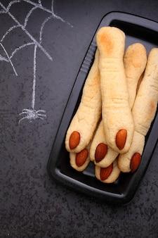 Biscotti delle dita della strega di halloween