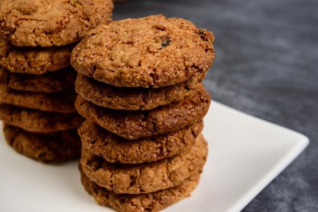 Biscotti di farina d'avena dolci in zolla