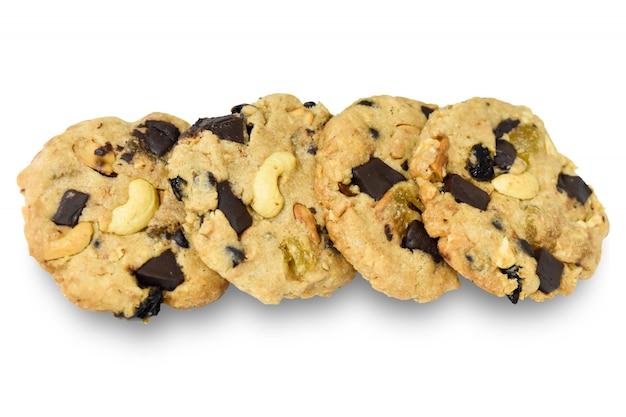 Biscotti dolci biscotti al cioccolato isolati