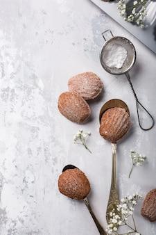 Biscotti fatti in casa al cioccolato madeleine