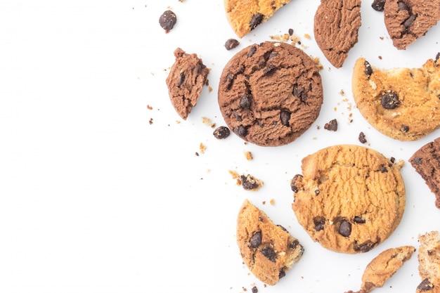 Biscotti fatti in casa con gocce di cioccolato