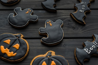 Biscotti fatti in casa di halloween