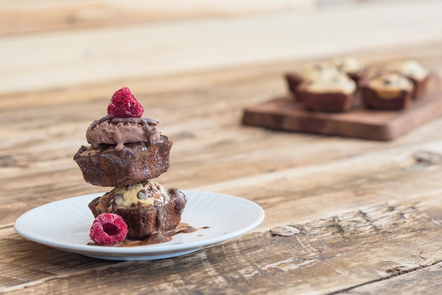 Biscotto brownie al cioccolato fatto a mano