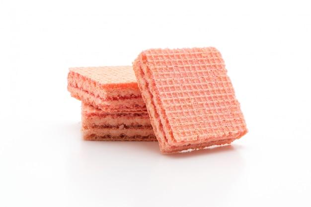 Biscotto di wafer con aroma di crema di fragole